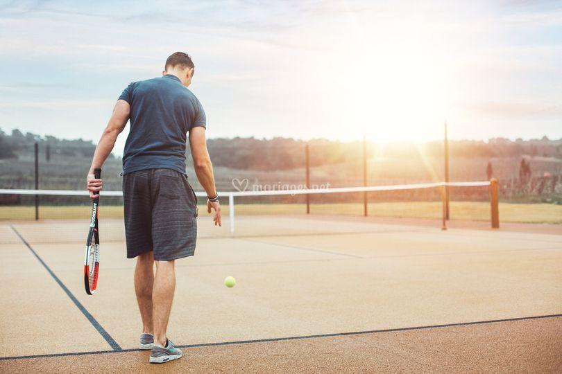 Un court de tennis