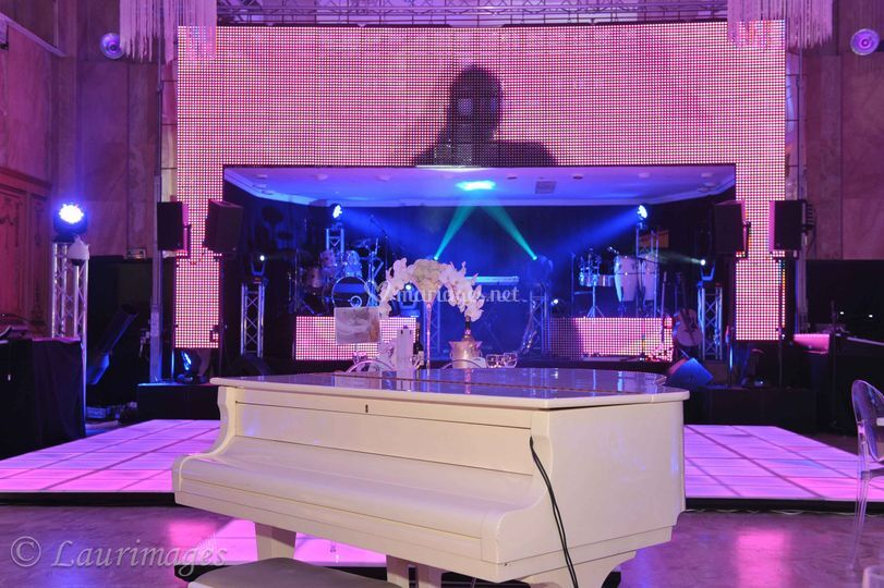 Mur de led animation piano