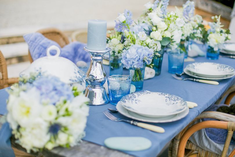 Table blue serenity