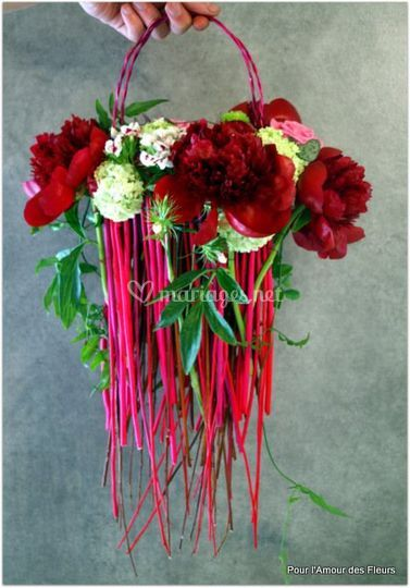 Bouquet sac pivoines