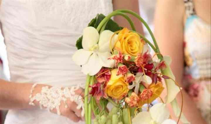 Bouquet cascade contemporain