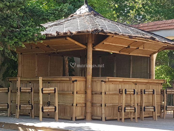 Bar bambou sur terrasse