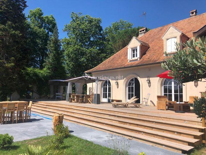 La terrasse de 150 m²