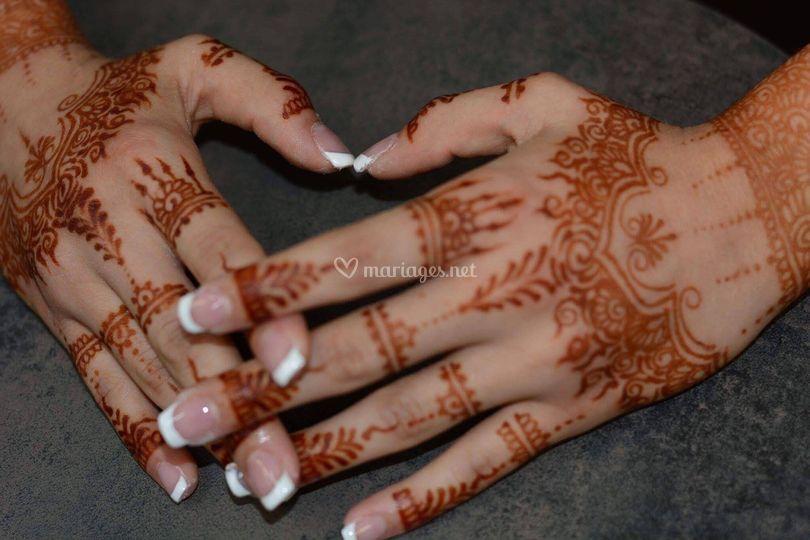 Henné et ongles pour mariée