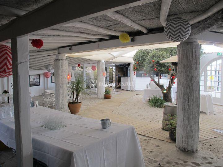 Zone restaurant semi exterieur