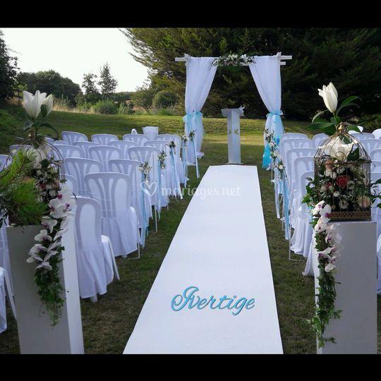 Decoration mariage laique