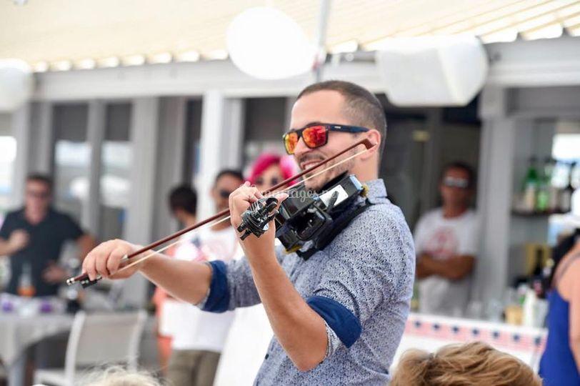 Déambulation au violon