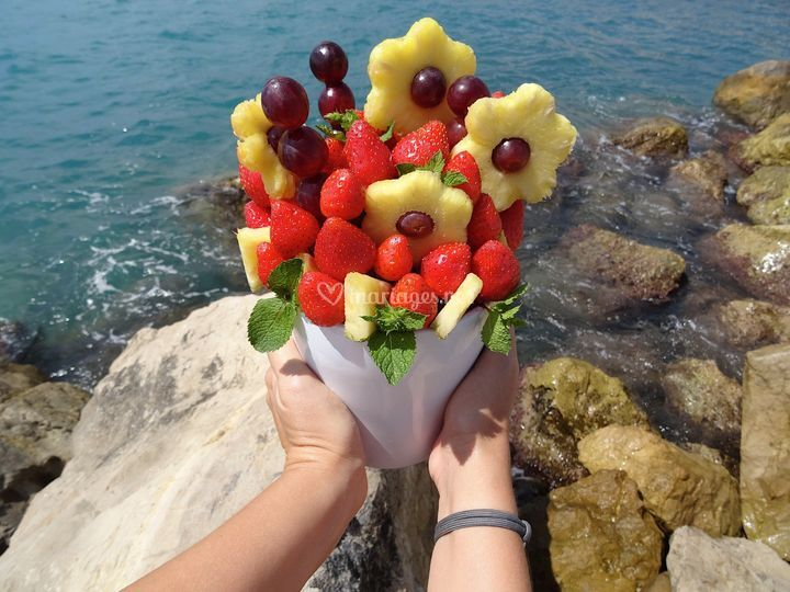Bouquet de fruits tranchés