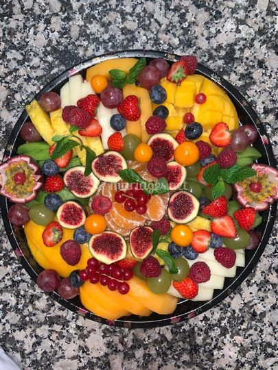 Exemple plateau de  fruits