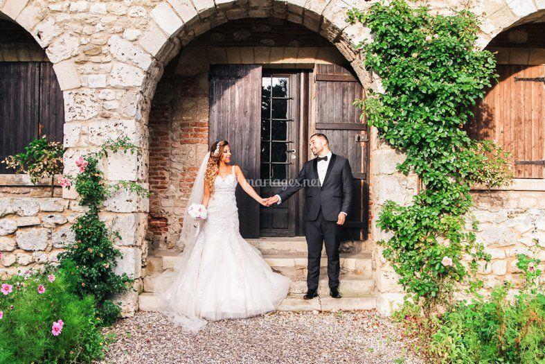 Séance avec les mariés