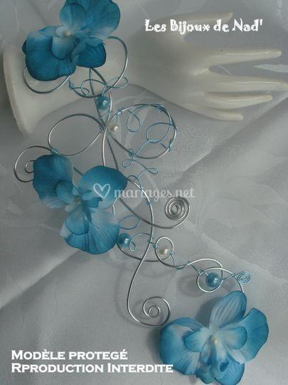 Bouquet-cascade (bleu)