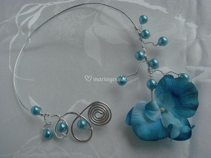 Collier Orchidée (bleu)