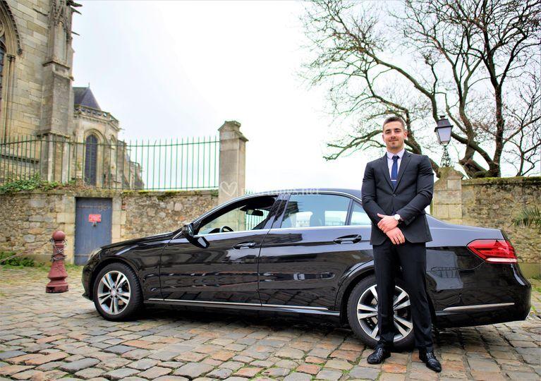 Mercedes Classe E et chauffeur