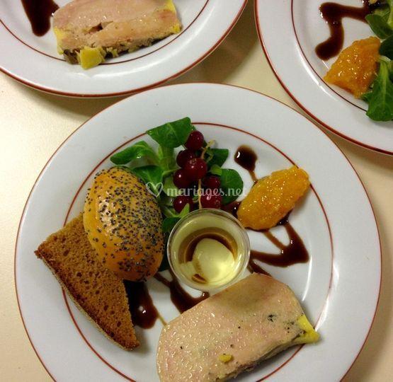 Foie gras et son verre de moel