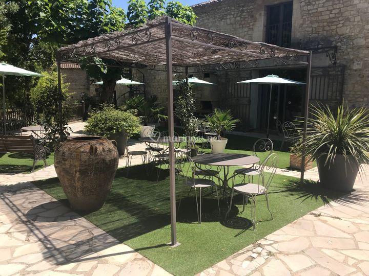 Terrasse pour vin d'honneur