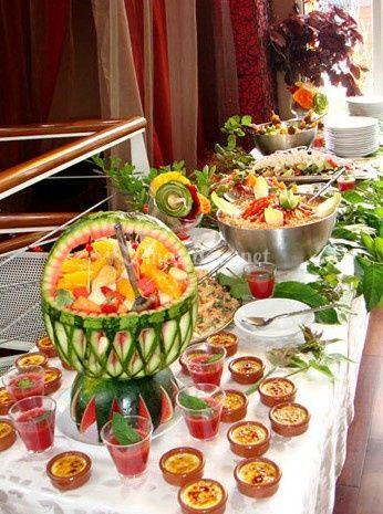 Buffet luxueux