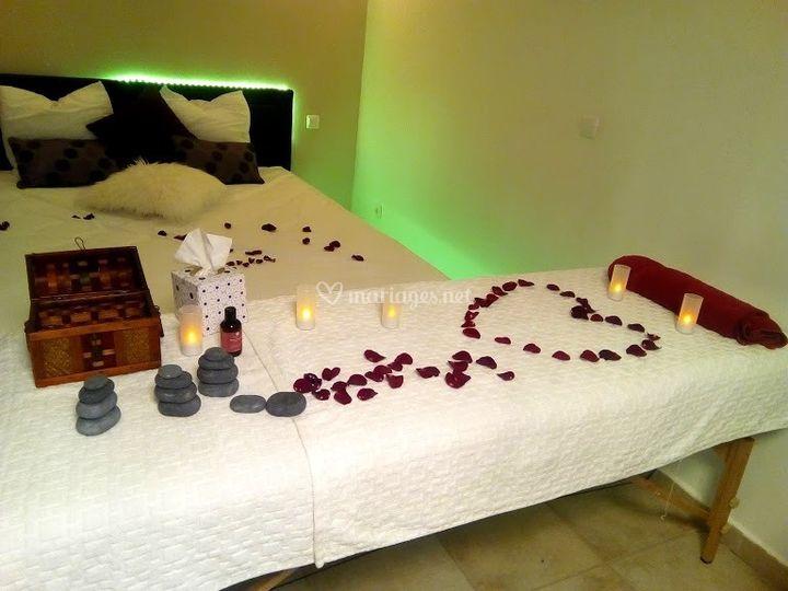Chambre romantique verte