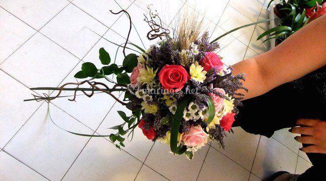 Bouquet rond lavande