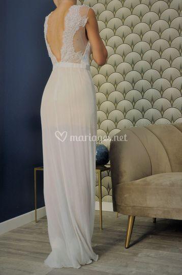 Robe de mariée soie et dentell