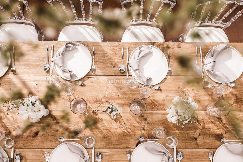 Table mariage minimaliste