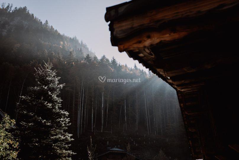 Mariage d'automne à la montagne