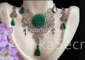 Parure vert turquoise