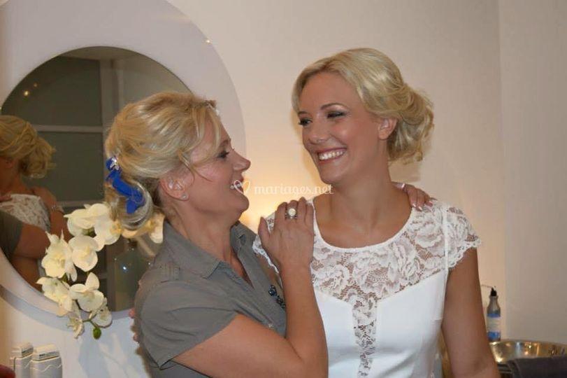 Maquillage mariée et famille