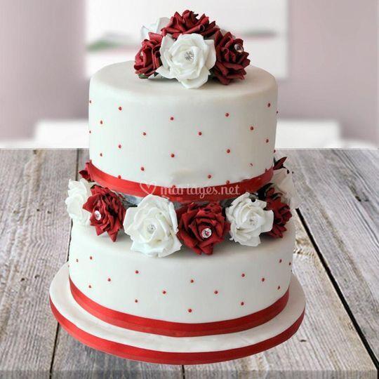 Wedding cake glamour