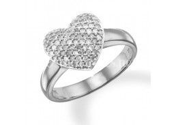 Bague coeur diamants
