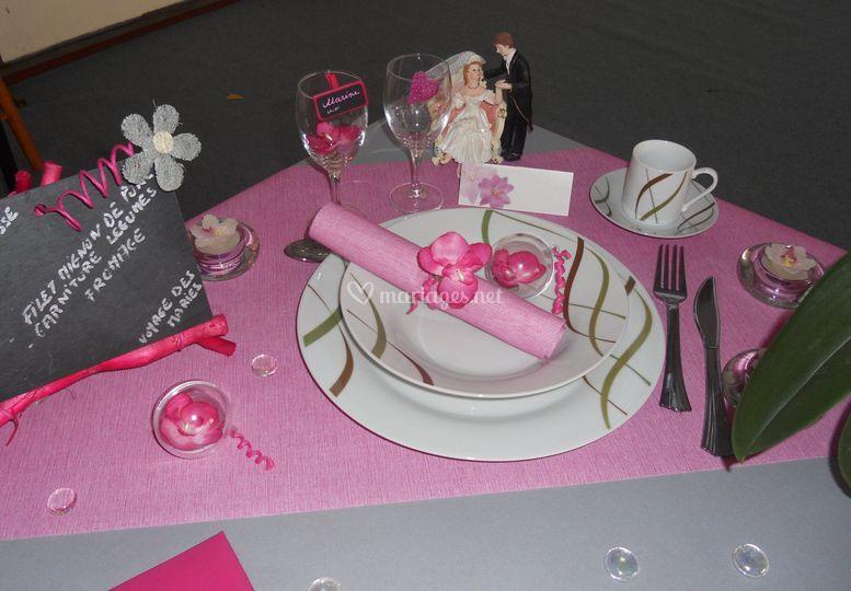 Deco rose et gris - Decoration de table mariage rose et gris ...