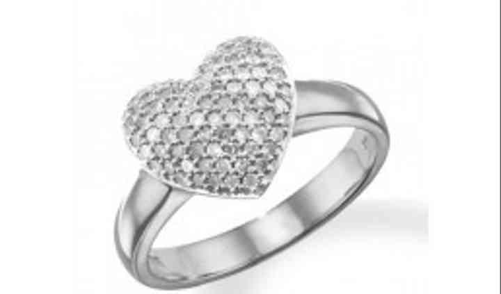 Bague coeur diamants