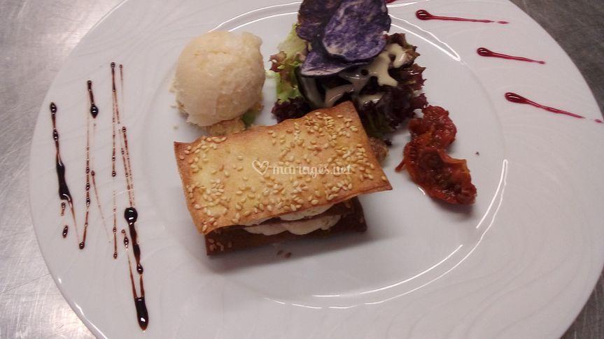 Mille feuille foie gras