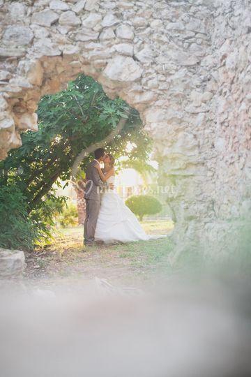 Les mariés dans notre parc