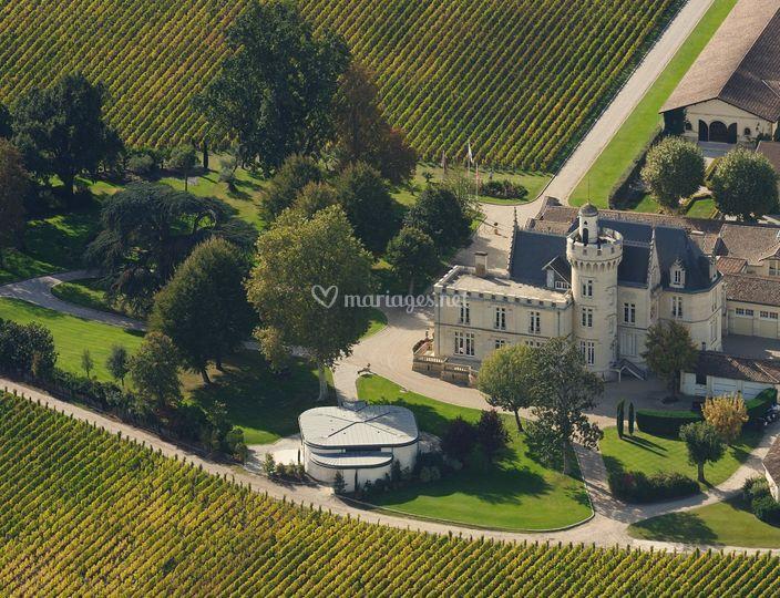 Château Pape Clément - vue aérienne
