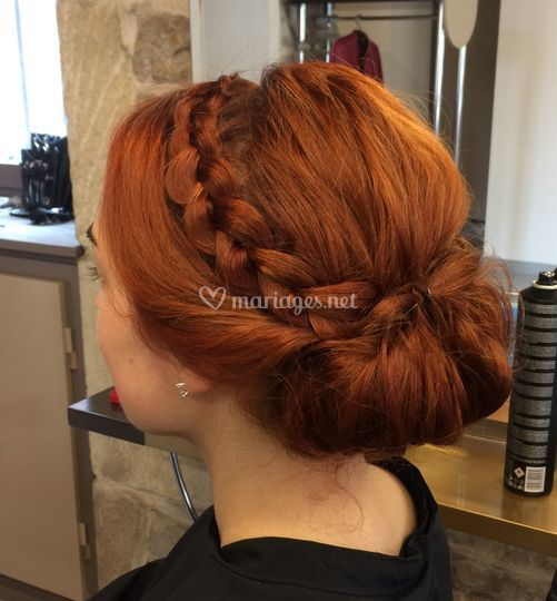 Chignon Bas Et Tresse De Bird Co Coiffure Photo 2
