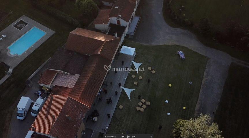 Vue aérienne du Domaine