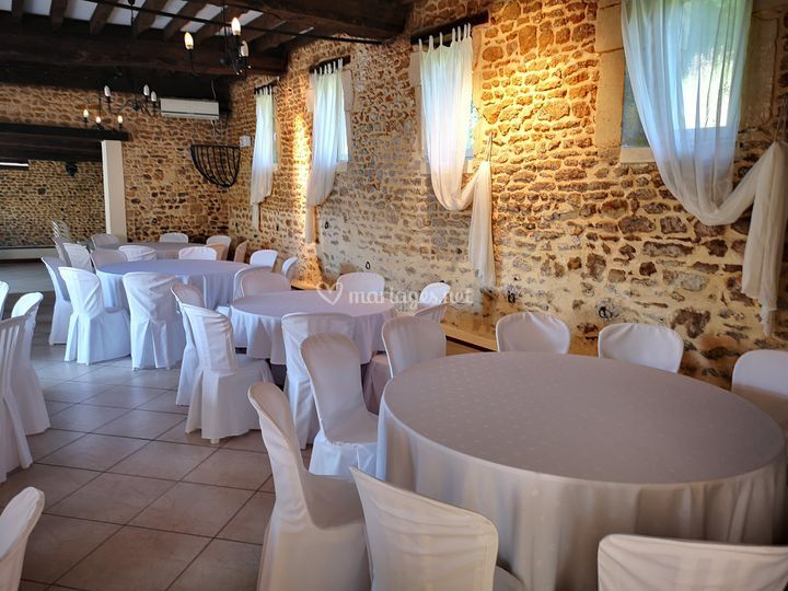 Mise en place tables rondes