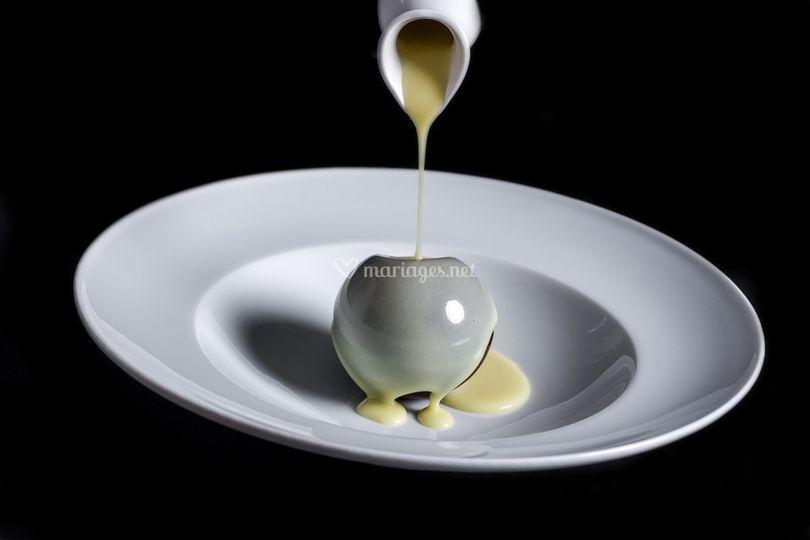 Sphère chocolat praliné