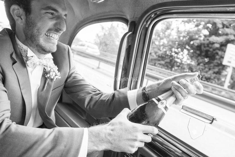 Taxi anglais mariage