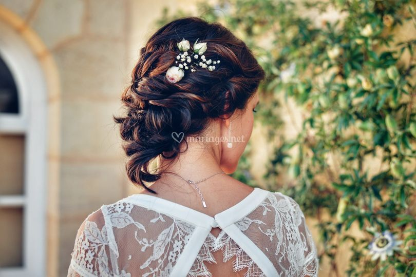 Robe de mariée coiffure