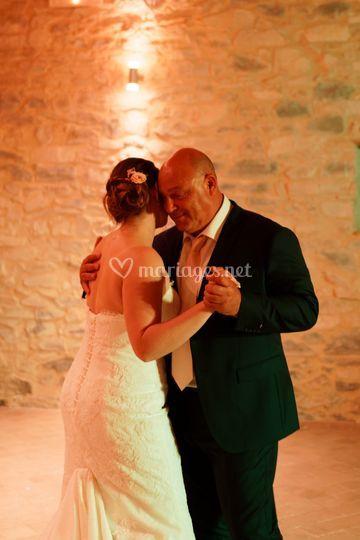 La danse avec le papa