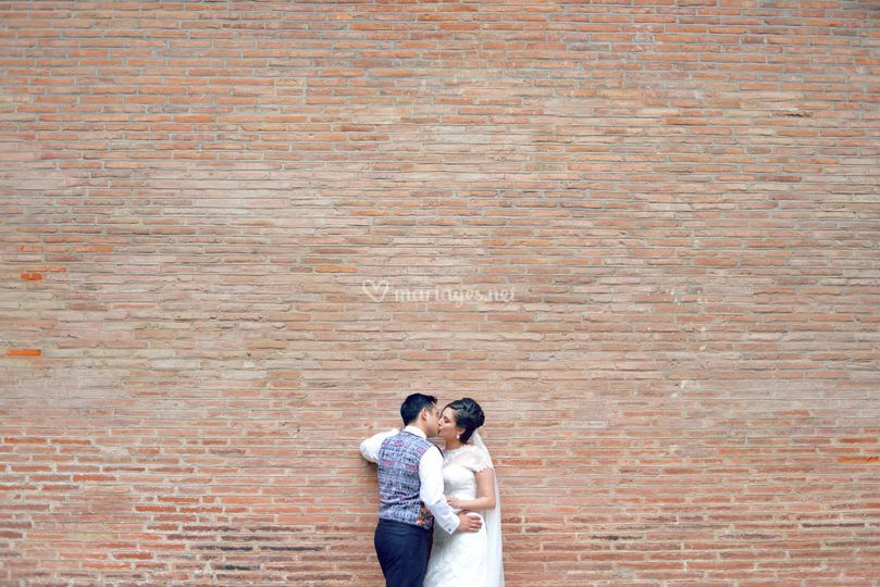 Couple sur mur