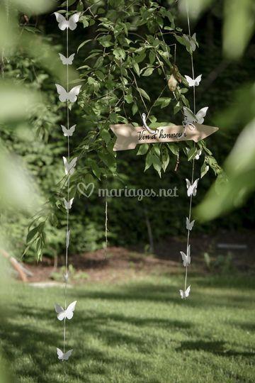 Banderole papillons