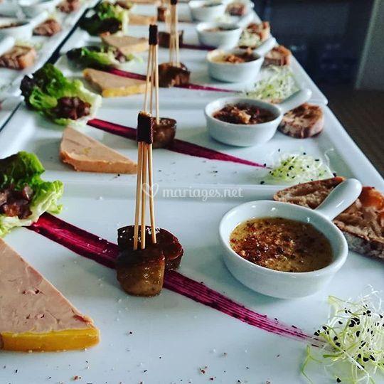 Trilogie de foie gras Mariage