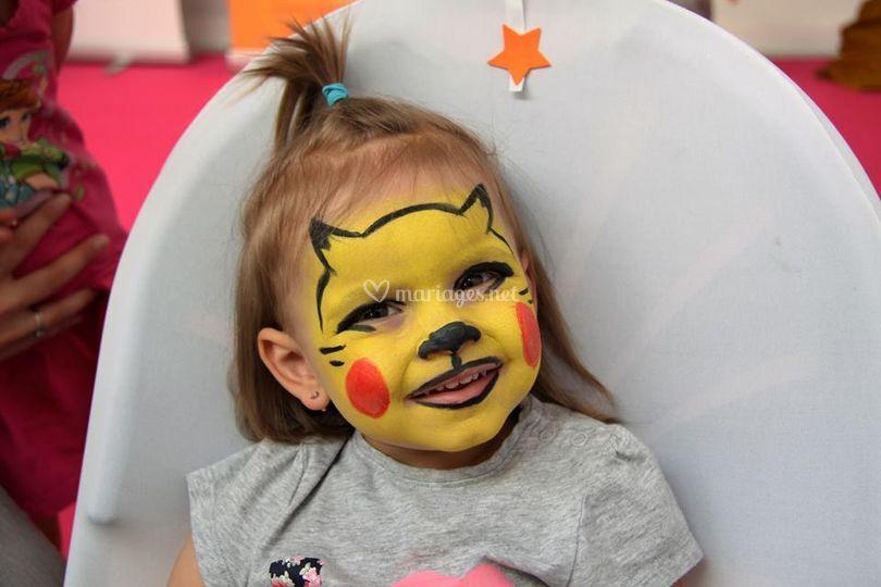 Maquillage Pikachu