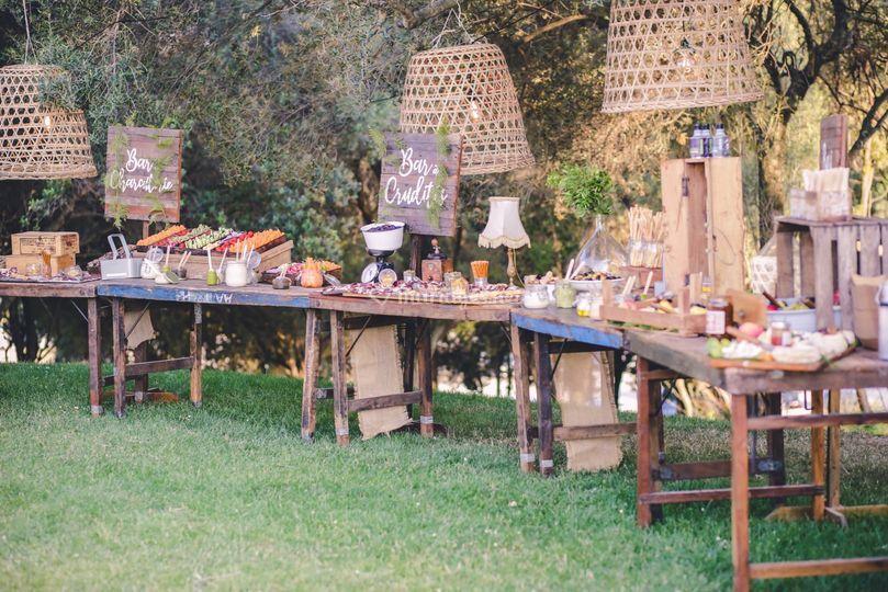 Buffets décorés