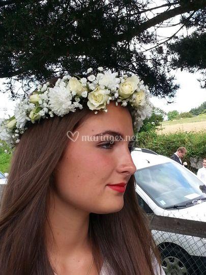Couronne de fleurs mariage cor