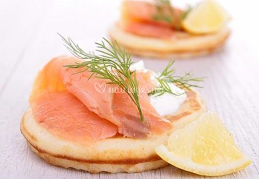 Blinis saumon fumé