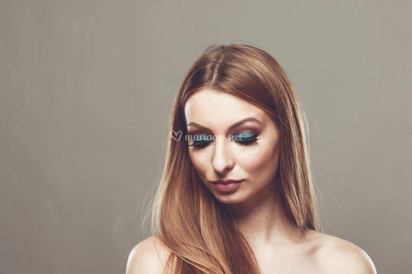 Maquillage teint Roux