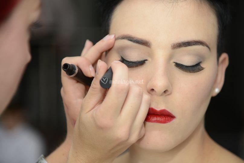 Maquillage précis